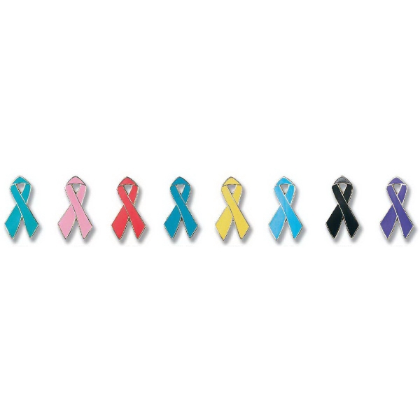 Imprinted Awareness Ribbon Lapel Pin