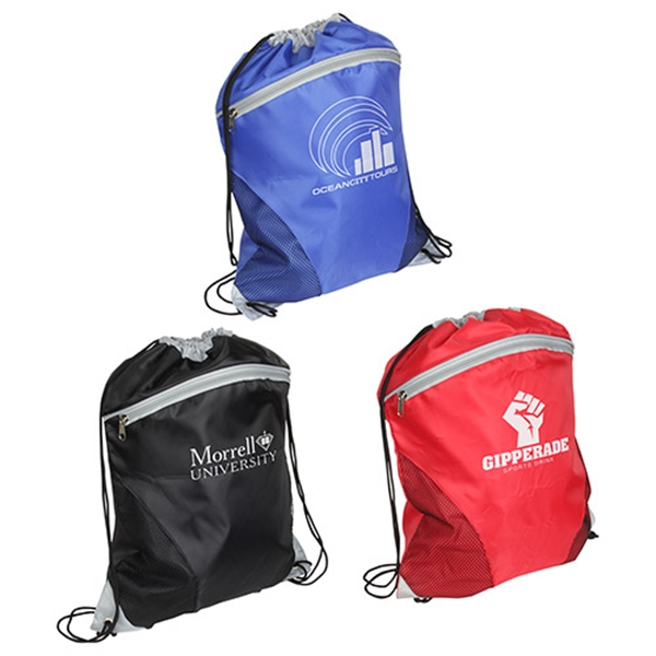 Personalized Cyclone Mesh Curve Drawstring Backpack