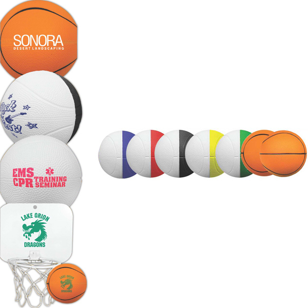 "Promotional 4"" Two-Toned Foam Basketball"