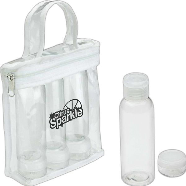 Printed Legal Limits Travel Bottle Set