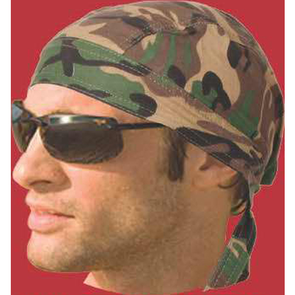 Imprinted Camo Head Wraps
