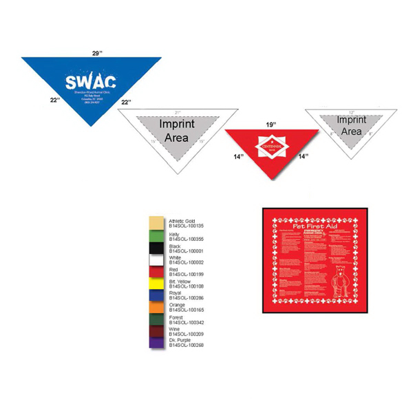 Imprinted 785 Small Triangle Bandanna