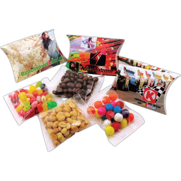 Promotional Gurdon 2 oz pillow pack with choice of favorite food fill