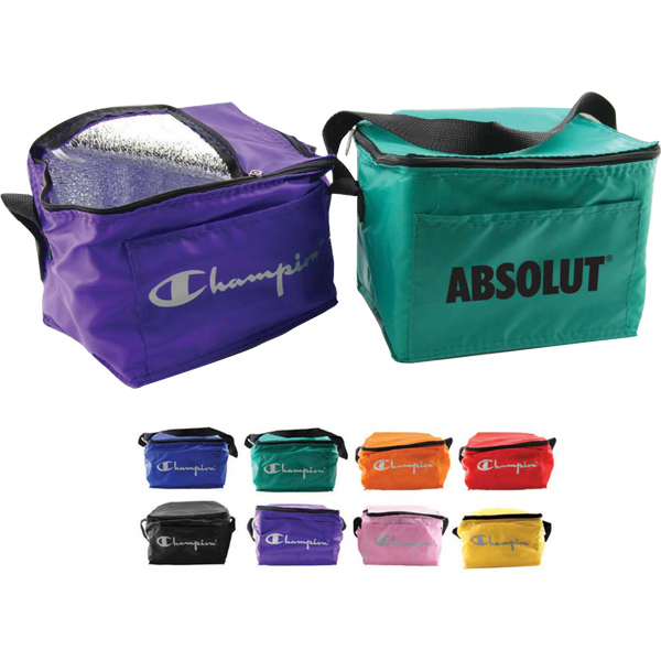 Imprinted Montego traditional six pack insulated cooler
