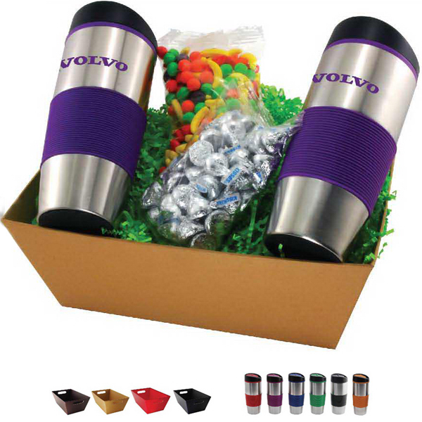 Promotional Gift tray with tumblers and filler