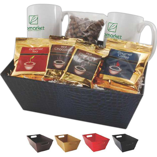 Personalized Lemming Gift tray with mugs and snacks