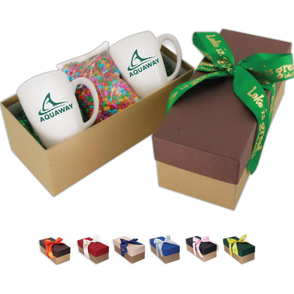 Promotional Gift box with 2 mugs and choice of fills