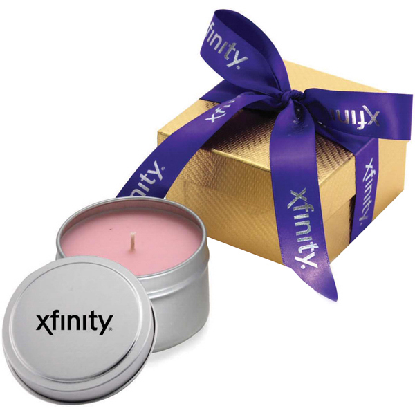 Imprinted Jupiter Gift Box w/ Candle