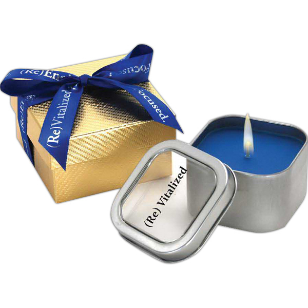 Printed Mercury Gift Box w/ Candle