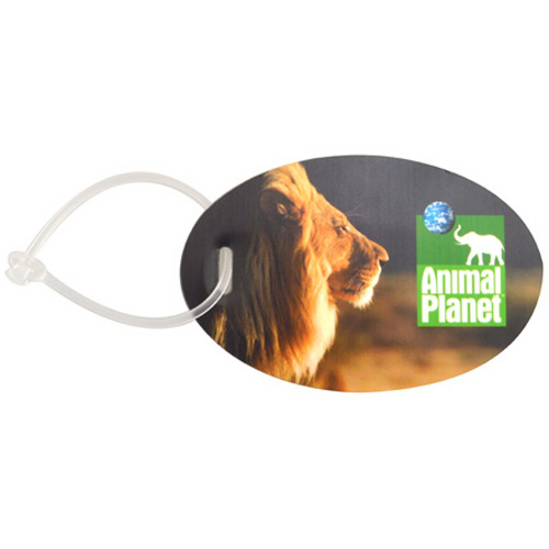 Printed Bravo oval luggage tag