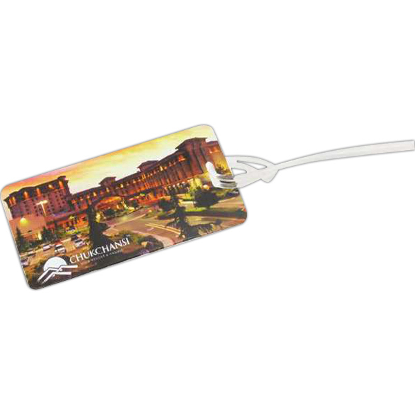 Imprinted Breeze rectangle luggage tag