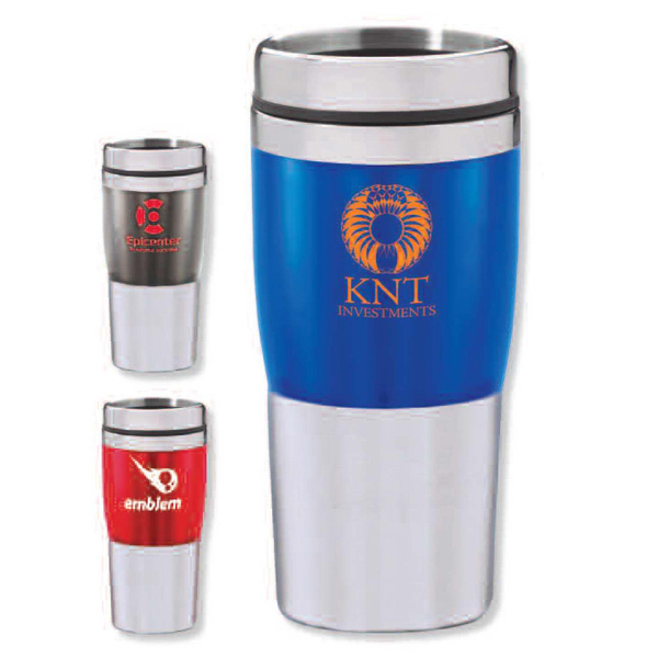 Custom Acrylic and stainless steel travel tumbler - 16 oz