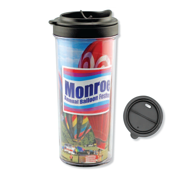 Promotional Full Color Insert Travel Tumbler - 16 oz