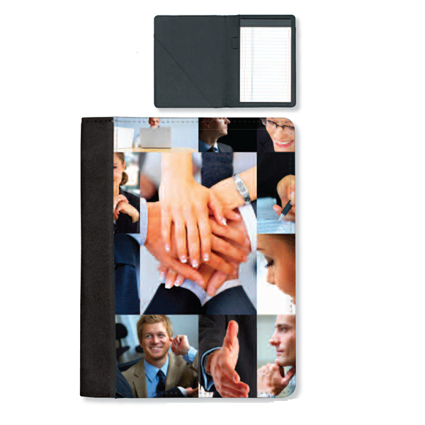 Printed Full color medium note pad folio
