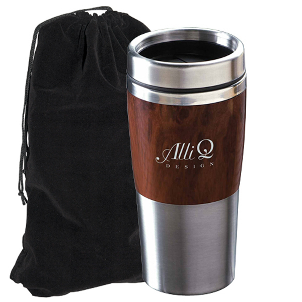 Imprinted Tumbler with Velvet Pouch