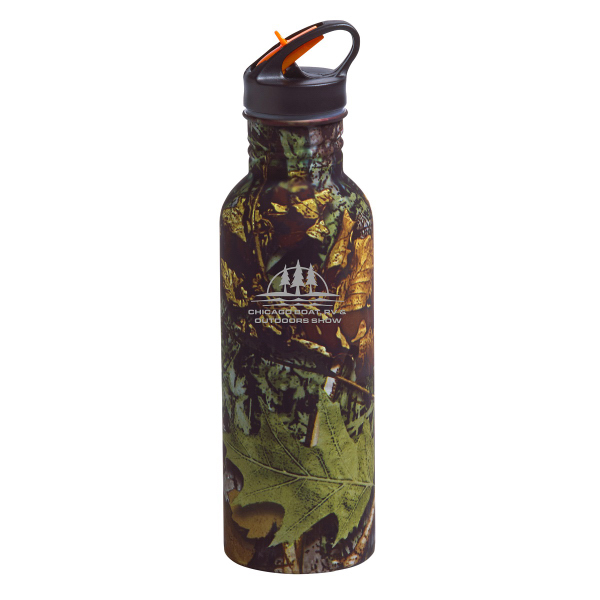 Printed Camo Stainless Water Bottle