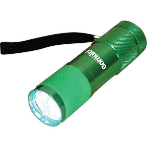 Printed Glow wrap 9LED flashlight