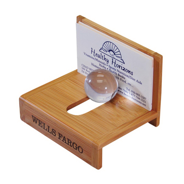 Promotional Bamboo business card holder