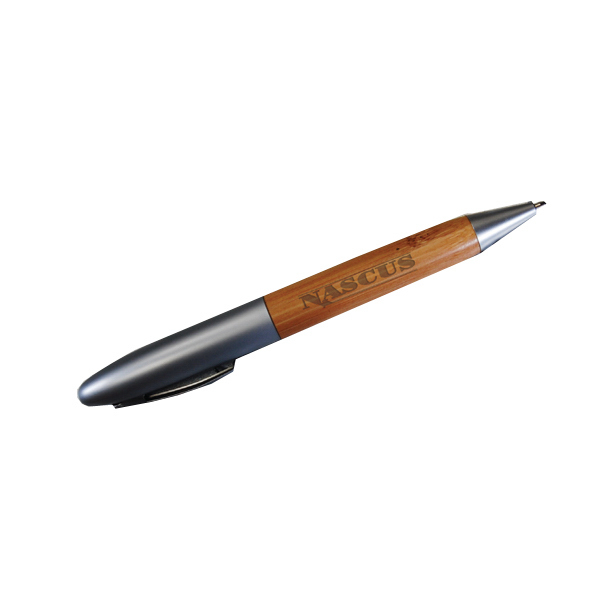 Promotional Contempo bamboo twist pen