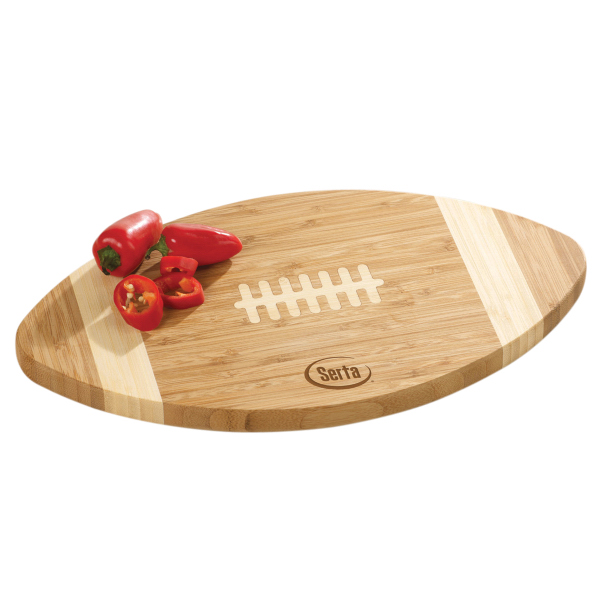 Custom Bamboo Football Cutting Board