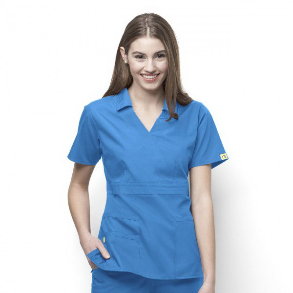 "Printed Wink ""The Echo"" Ladies Scrub Top"