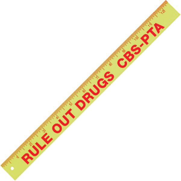 "Personalized 12"" Plus plastic ruler"