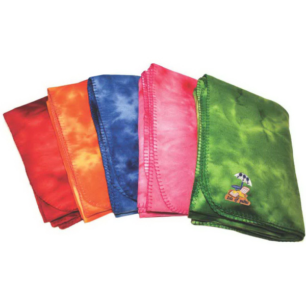 Printed Tie Dye Fleece Blanket