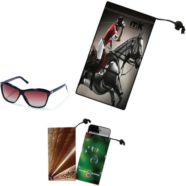 Imprinted Sunglass / Cell Phone Microfiber Cloth Pouch