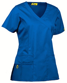 Imprinted Wink Mink Y-Neck Scrub Top
