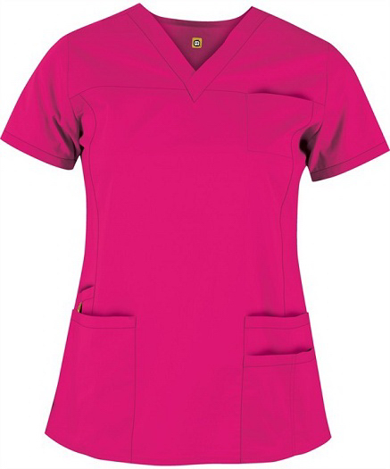Personalized Wink Ladies V-Neck Multi-Pocket Scrub Top