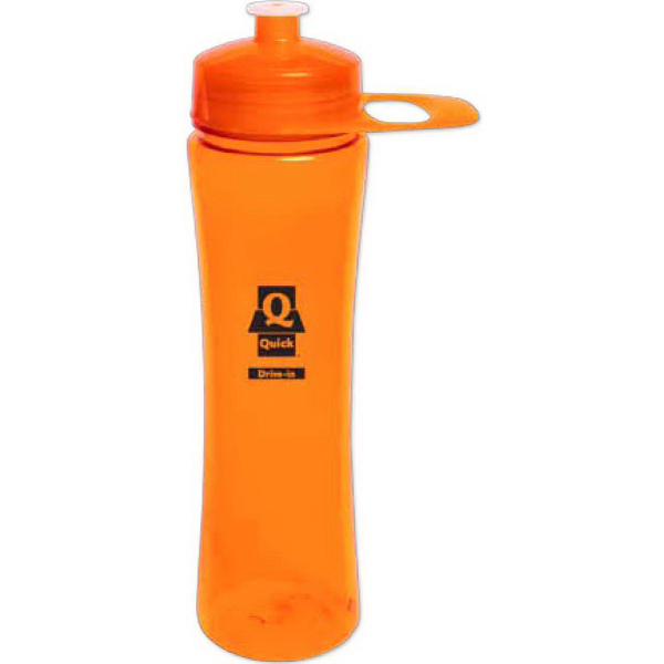 Customized 24 oz Polysure (TM) Exertion bottle w/ grip