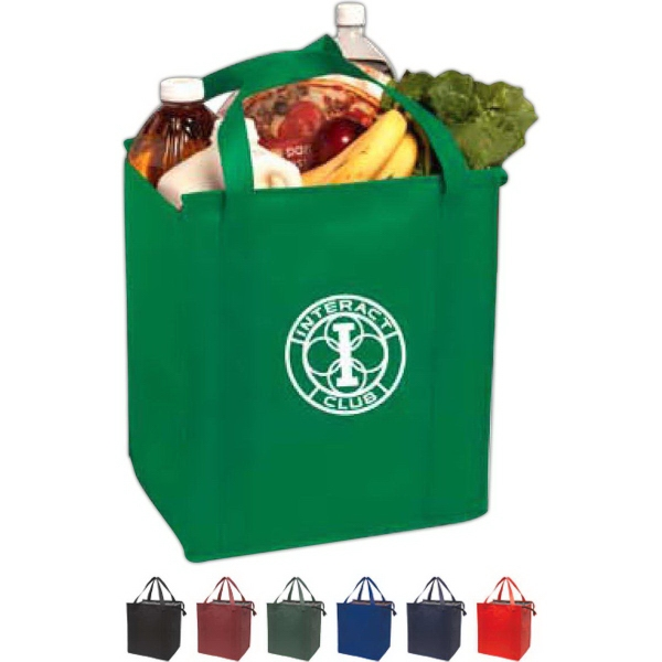 Printed Insulated Large Non-Woven Grocery Tote