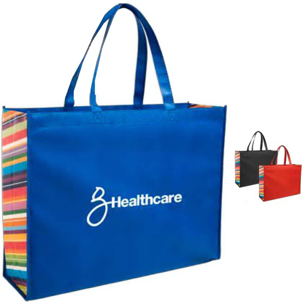 Imprinted Non-Woven Color Burst Expo Tote