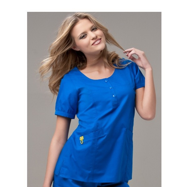 Imprinted Wink Mink Round Neck Scrub Top