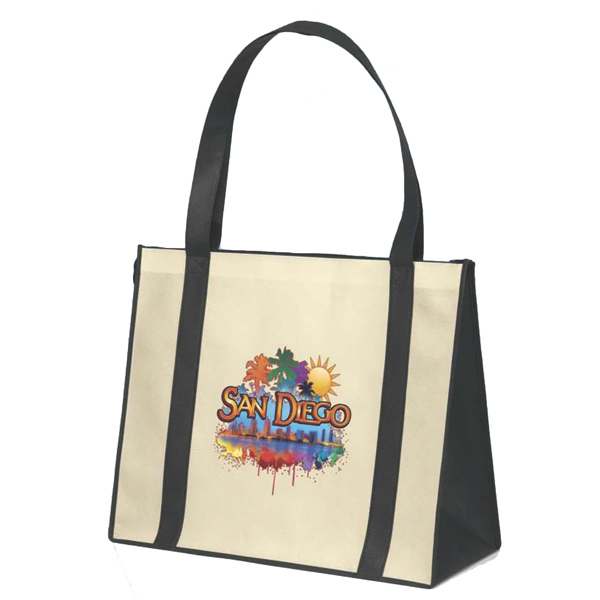 Printed Del Mar (TM) Non-Woven Polypropylene Tote Boat Bag