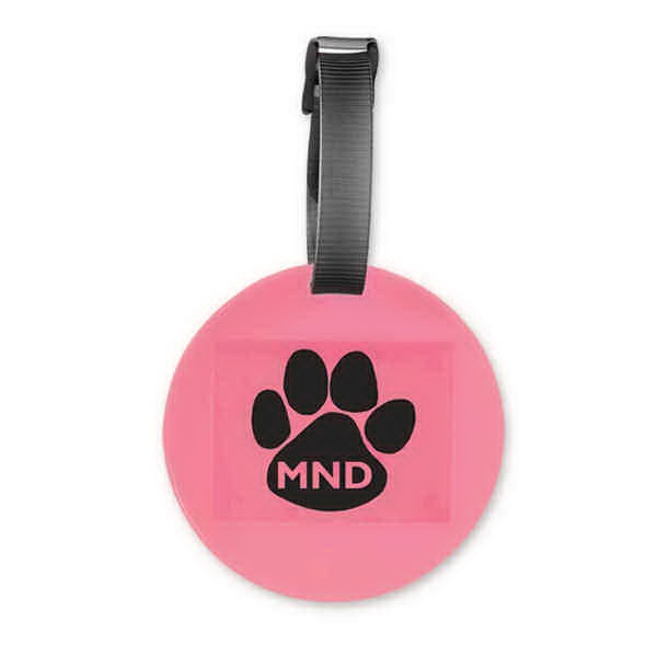 Custom Pink Round Luggage Tag