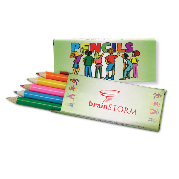 Personalized Five Pack Of Colored Pencils