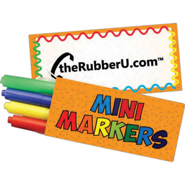 Promotional 4 Pack Mini Markers
