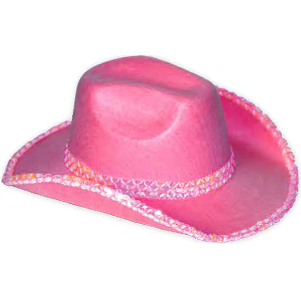 Printed Sequin felt cowboy hat