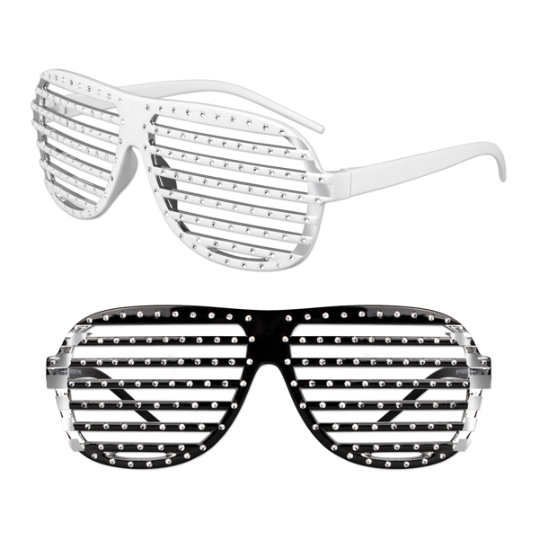 Customized Slotted rhinestone glasses with studs