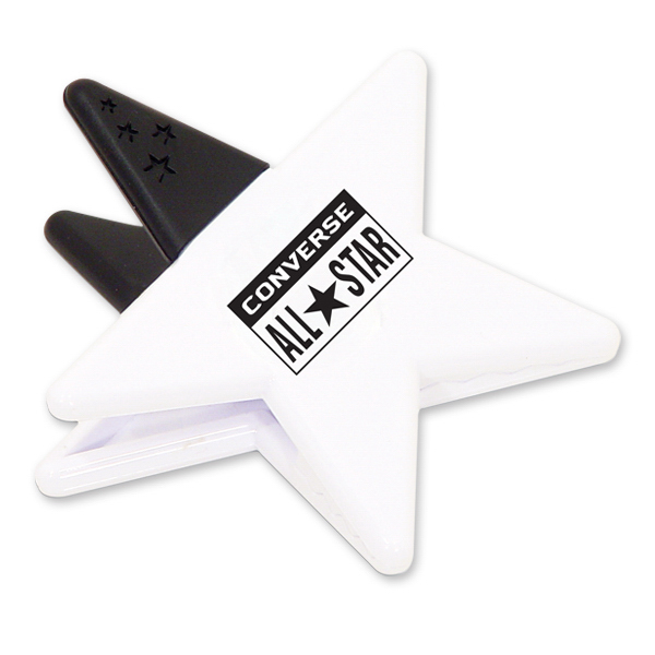 Imprinted Star Magnetic Memo Clip