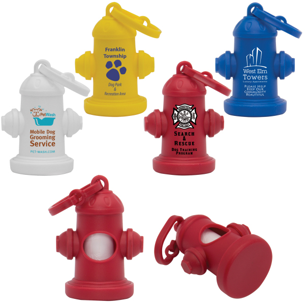 Custom Fire Hydrant Pet Waste Bag Dispenser