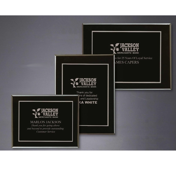 Imprinted Onyx Large Plaque Award