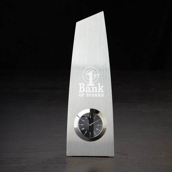 Printed Metal Trophy Clock