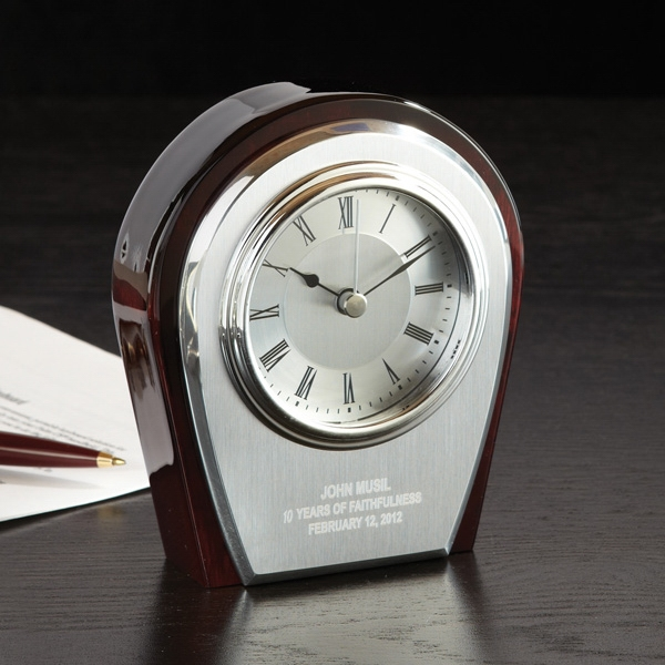 Promotional Pavise Wood Clock