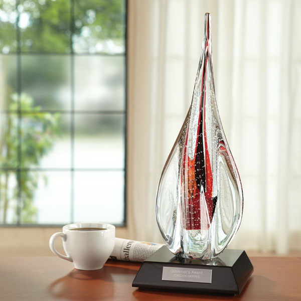 Imprinted Aereator Art Glass Award