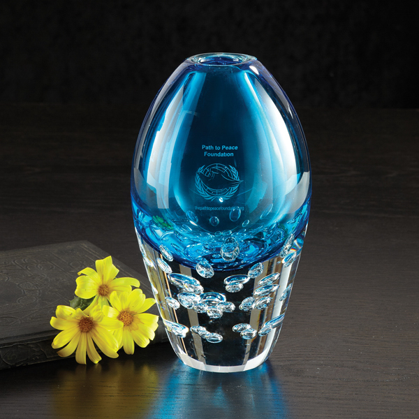 Imprinted Aristocrat Art Glass Award