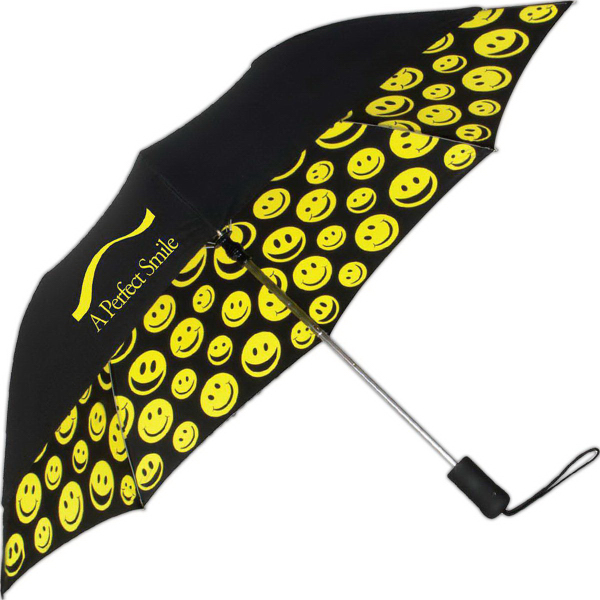 Printed Smiles Automatic Open Umbrella
