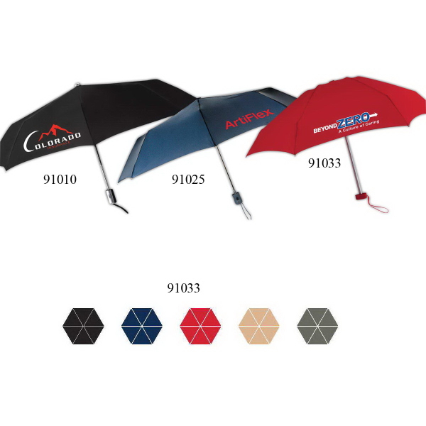 Printed Genie Folding Manual Open And Close Umbrella