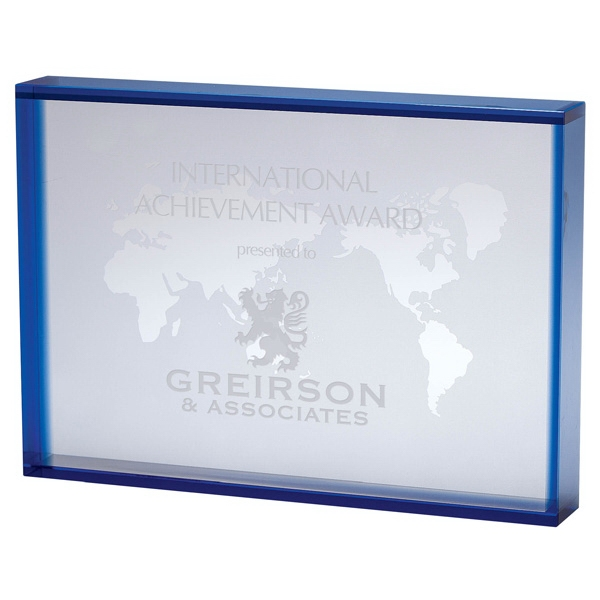 Promotional Crystal Rectangular World Map